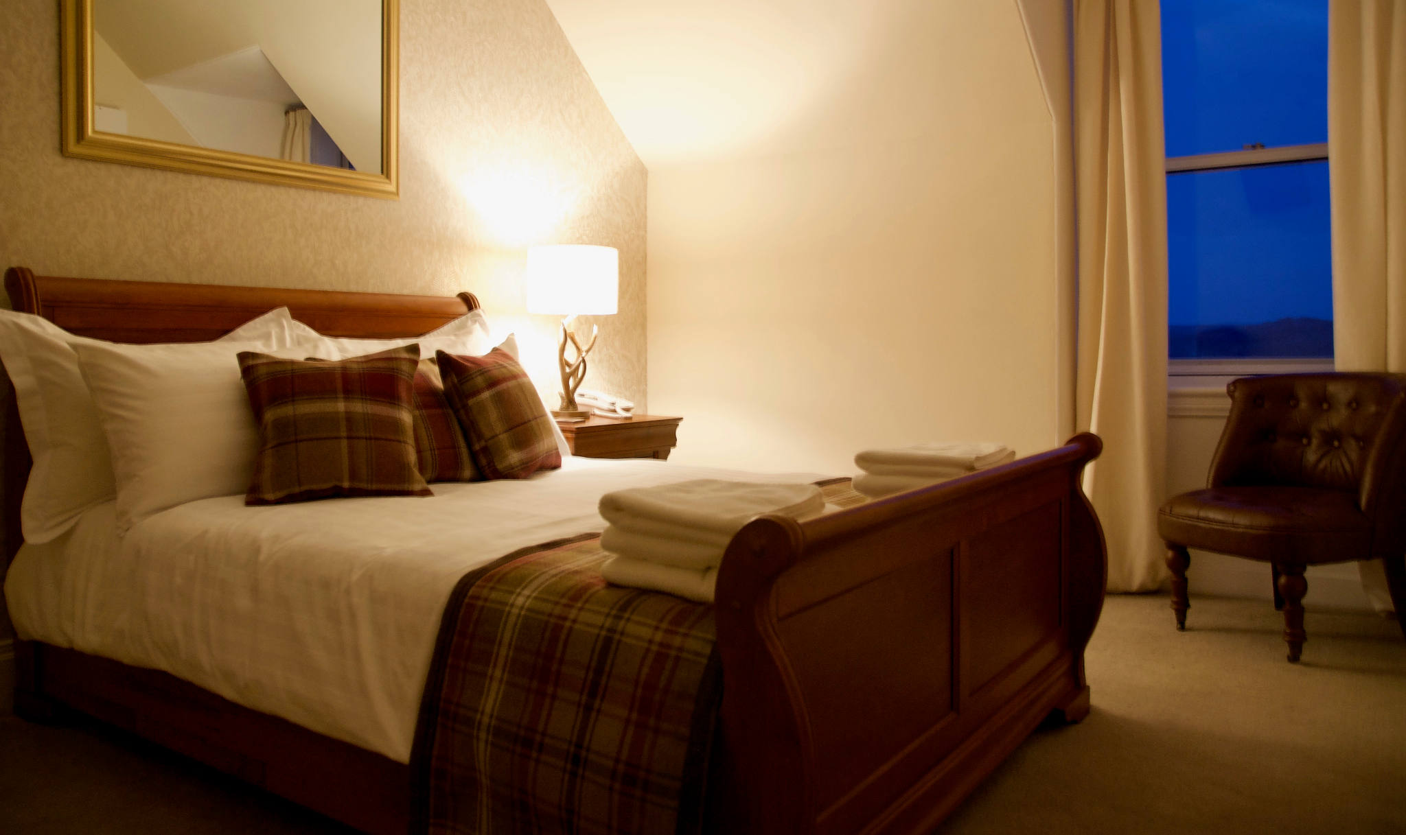 Double bedroom at the Millcroft Hotel, Gairloch